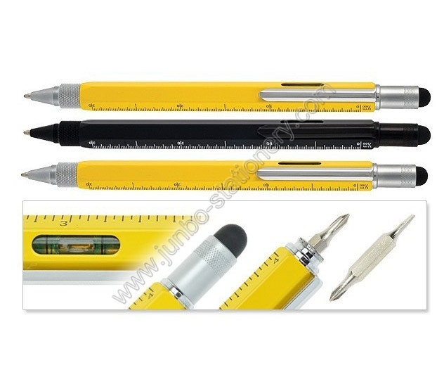 pen ruler spirit level stylus screwdriver